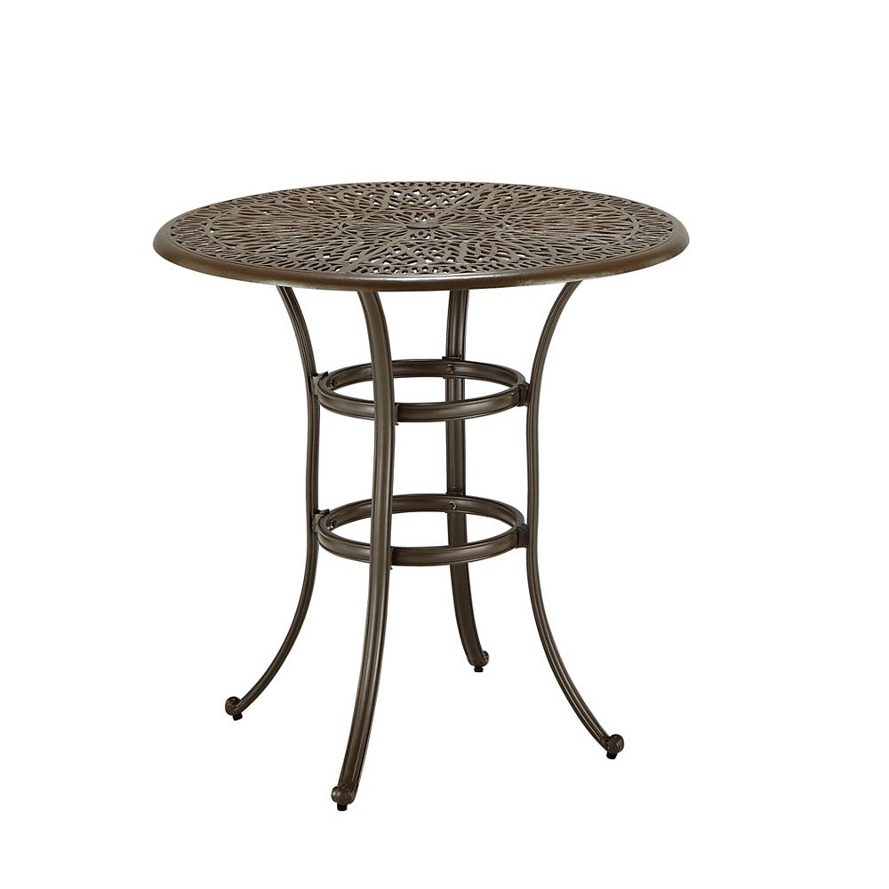 Floral Blossom Taupe Bistro Table