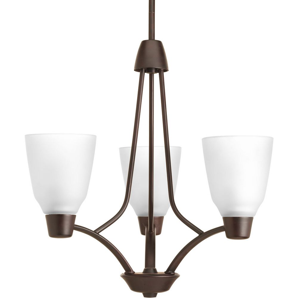 Progress Lighting Asset Collection 3-light Antique Bronze Chandelier