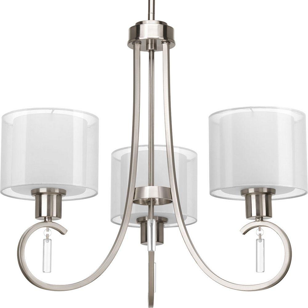 Progress Lighting Invite Collection 3-Light Brushed Nickel Chandelier