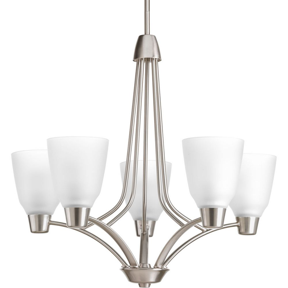 Progress Lighting Asset Collection 5-light Brushed Nickel Chandelier