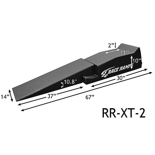 67-inch Wheel Chock with Ramp (2-Pack)