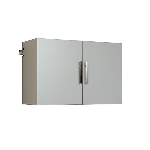 HangUps 36-inch Upper Storage Cabinet in Light Grey (36 inches W x 24 inches H x 16 inches D)