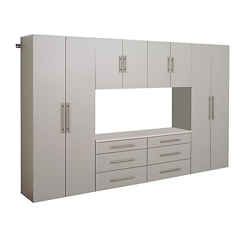 HangUps 120-inch Storage Cabinet Set (6-Piece)