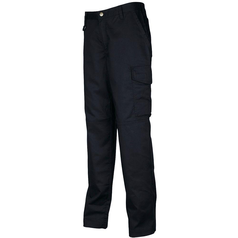 Projob Swedish Workwear Ladies Cargo Style Work Pants - Black - 26
