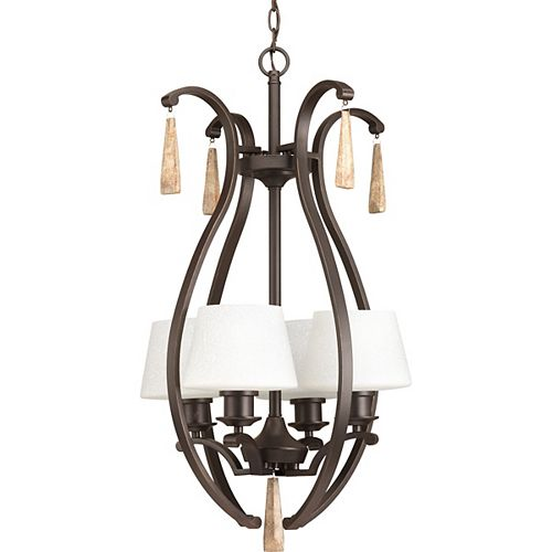 Progress Lighting Club Collection 4-Light Antique Bronze Foyer Pendant