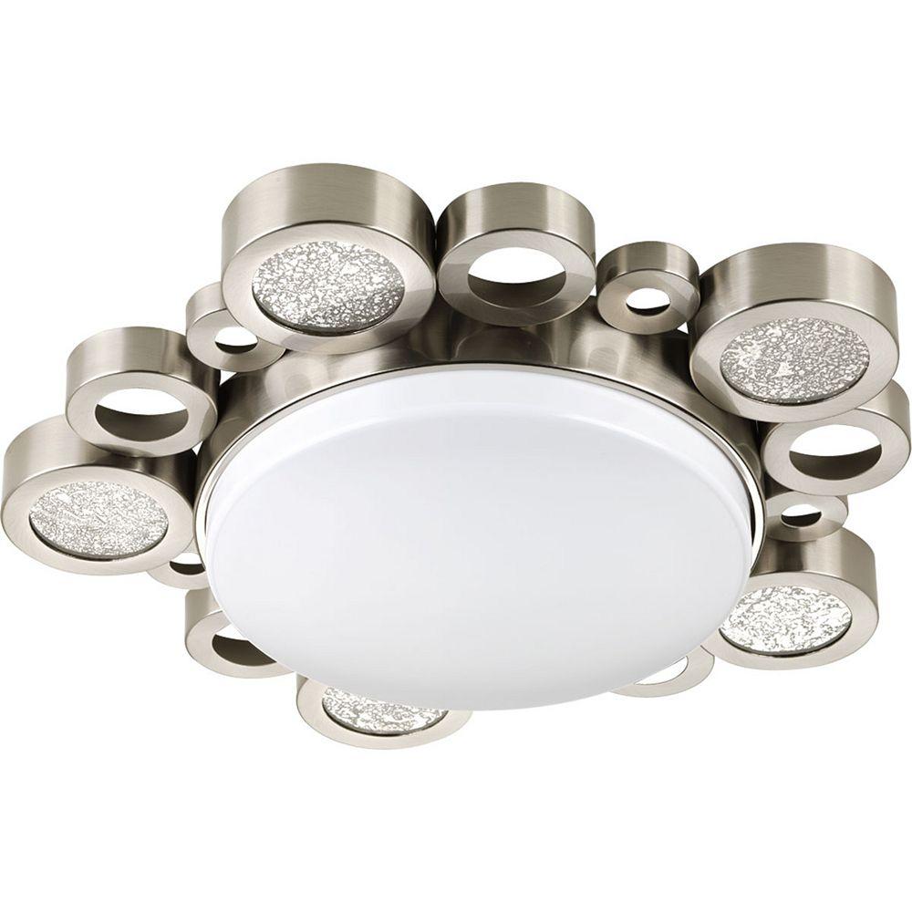Progress Lighting Bingo Collection 1-light Brushed Nickel Flushmount