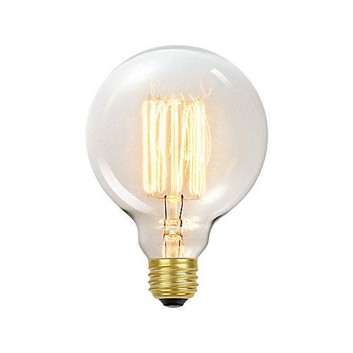 Ampoule Vintage Edison G40 60 watt, couleur edison antique