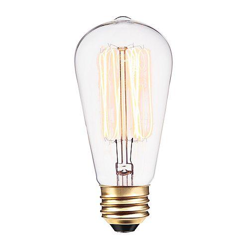 Ampoule incandescente à filament et cage d'écureuil S60 de 60 watts