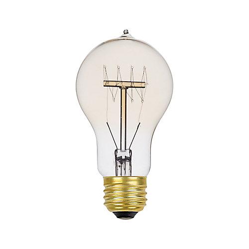 Edison 60W Incandescent A19 Vintage Quad Loop Filament Light Bulb with E26 Base