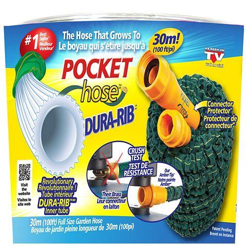Pocket Hose Dura-Rib 100 ft. Expanding Garden Hose