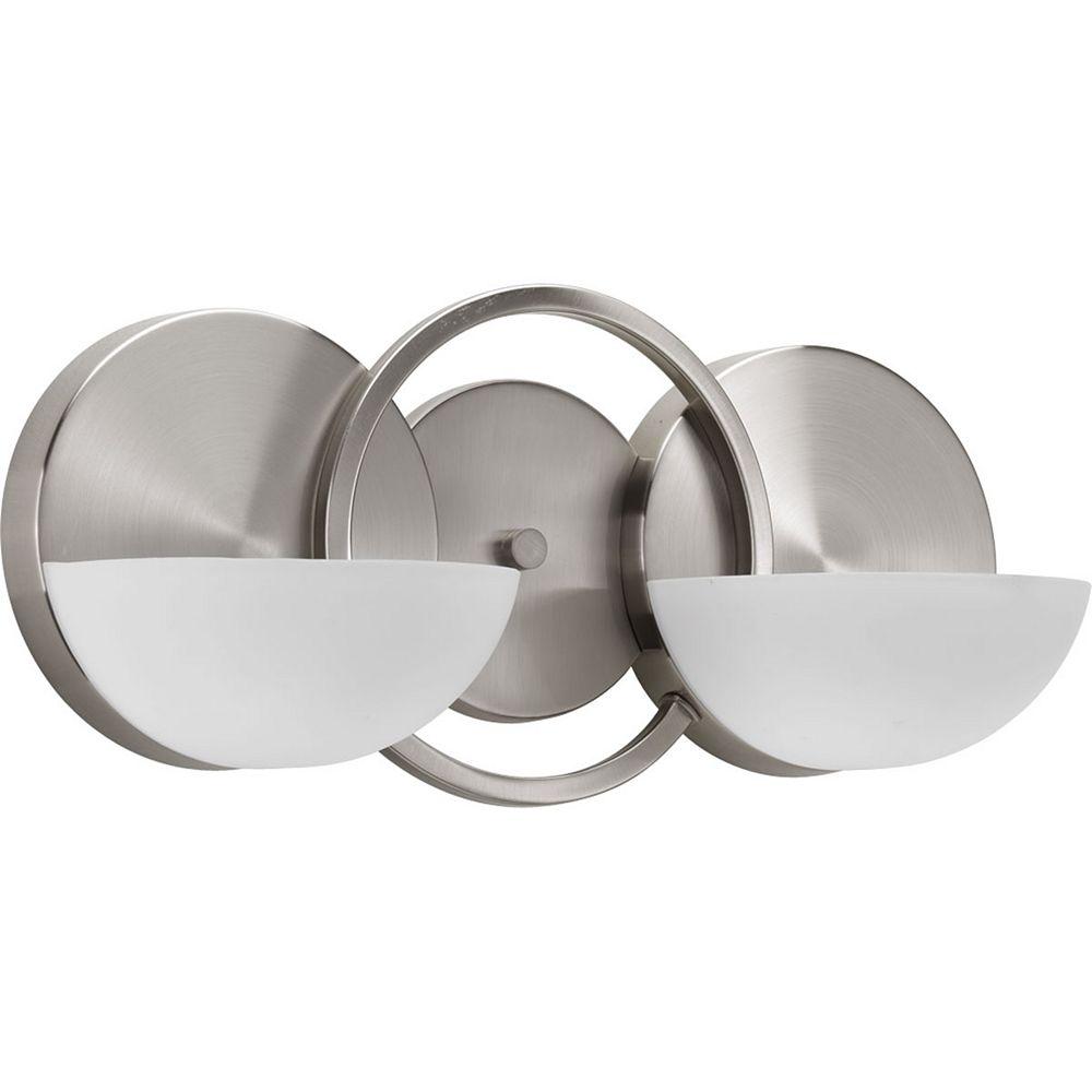 Progress Lighting Engage Collection 2-Light Brushed Nickel Bath Light