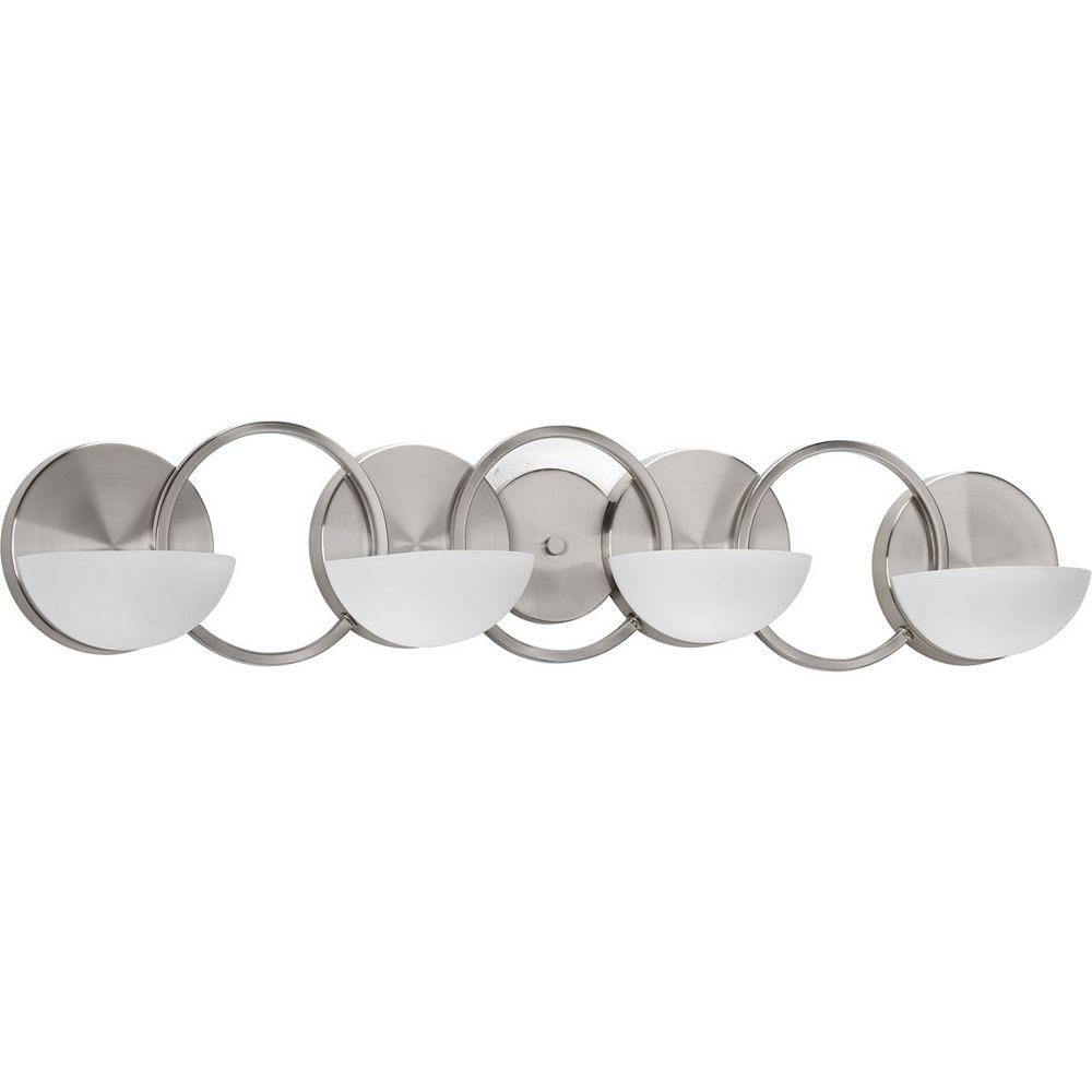 Progress Lighting Engage Collection 4-Light Brushed Nickel Bath Light