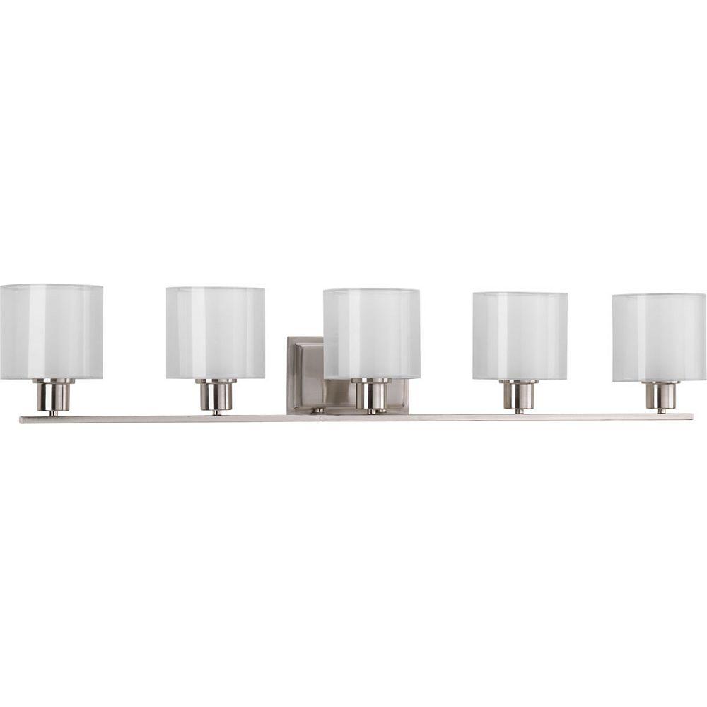 Progress Lighting Invite Collection 5-Light Brushed Nickel Bath Light