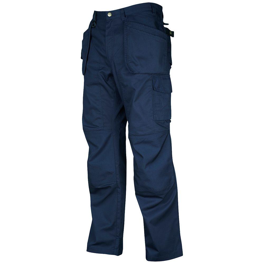 Projob Swedish Workwear Cargo Type Mid Weight Multi Pocket Men's Work Pants - Navy - 34X30