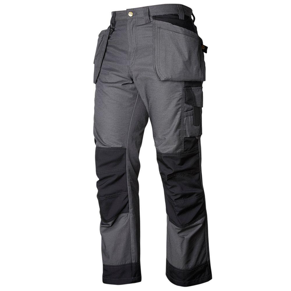 Projob Swedish Workwear Cargo Type Mid Weight Reinforced Protector Men's Work Pants - Black - 42X34