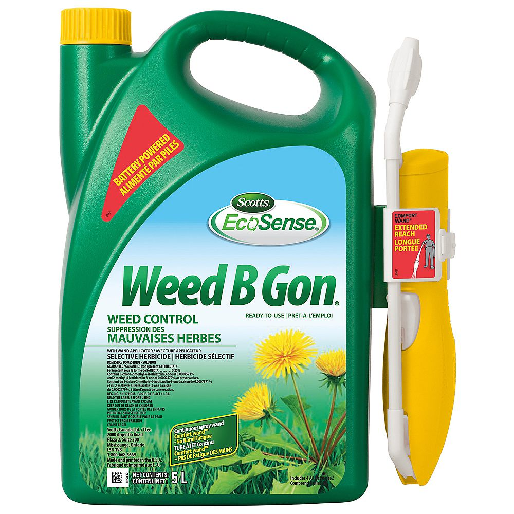 EcoSense Scotts Weed B Gon 5L Lawn Weed Control Formula with Ready To Use Comfort Wand