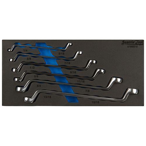 75 Degree offset Box-End Wrench Set-SAE (6-Piece)