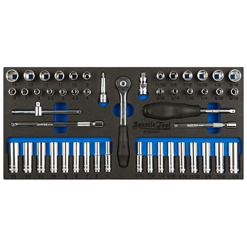 50-Piece 1/4-inch Socket and Driver Set - Metric and SAE