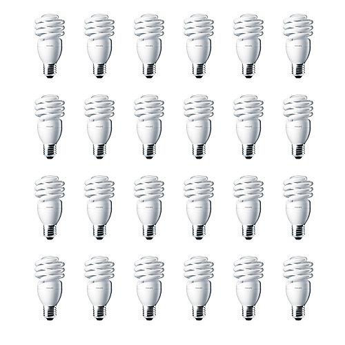13W = 60W Bright White (5000K) Mini Twister CFL Light Bulb (24-Pack)