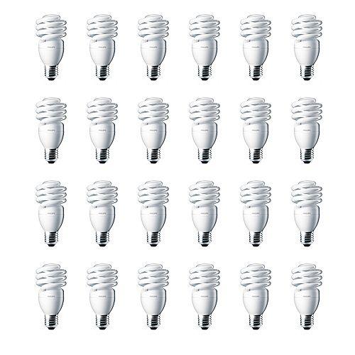 Philips 13W = 60W Bright White (5000K) Mini Twister CFL Light Bulb (24-Pack)