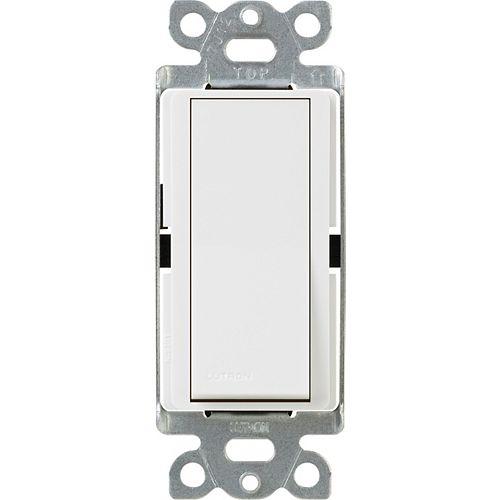Lutron Interrupteur Claro 15 Amp 3-Voies, Blanc