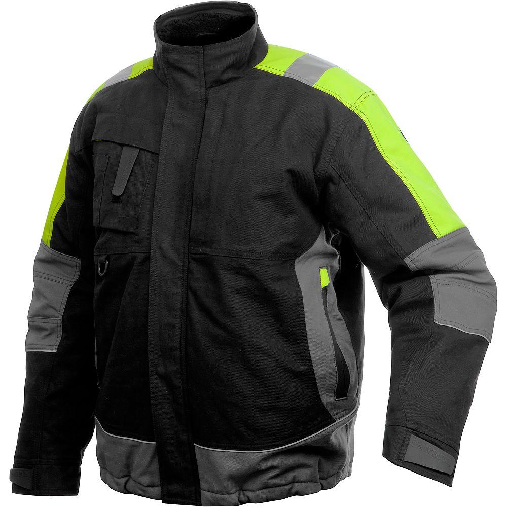 Projob Swedish Workwear Winter Lined Vis Men's Work Jacket - Black - XL