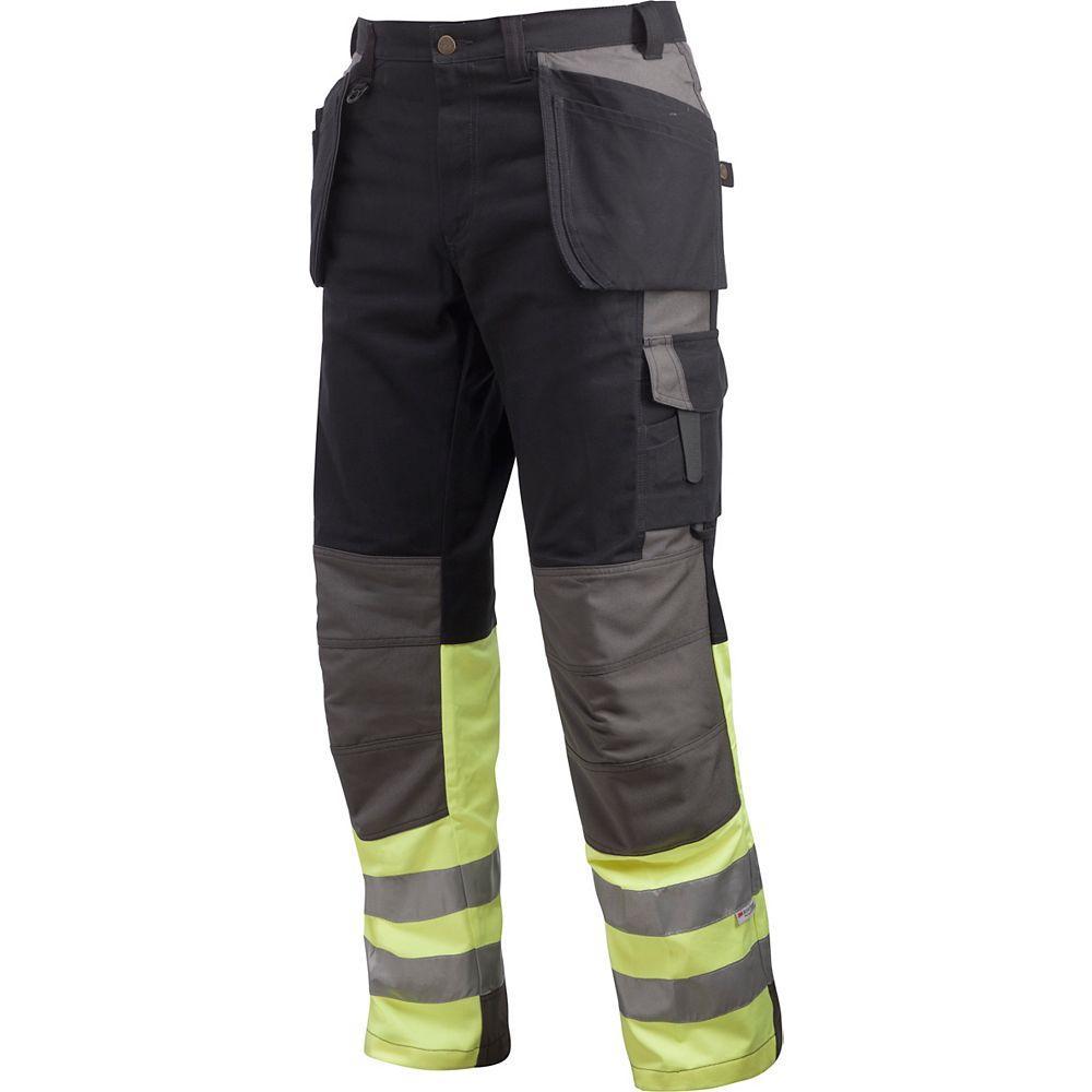 Projob Swedish Workwear Men's Cotton Cargo Type Protector Vis Work Pants - Black - 38X30