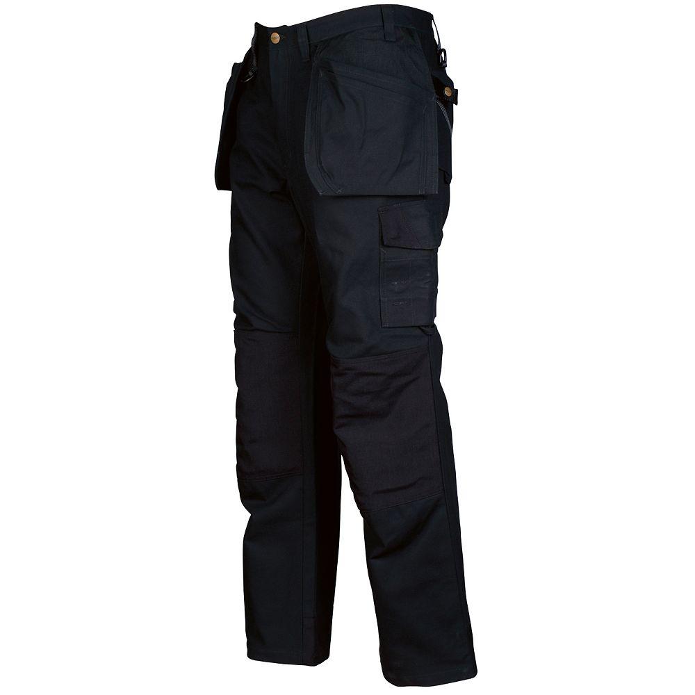 Projob Swedish Workwear Cotton Cargo Type Protector Men's Work Pants - Black - 34X32
