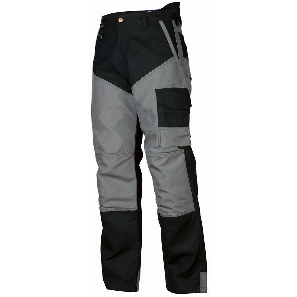 Projob Swedish Workwear 2 Tone Codura  Cargo Type Heavy Duty Protector Men's Work Pants - Black - 32X30