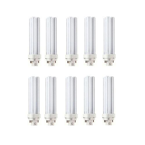 18W PL-C Neutral 4-Pin CFL Light Bulb (10-Pack)