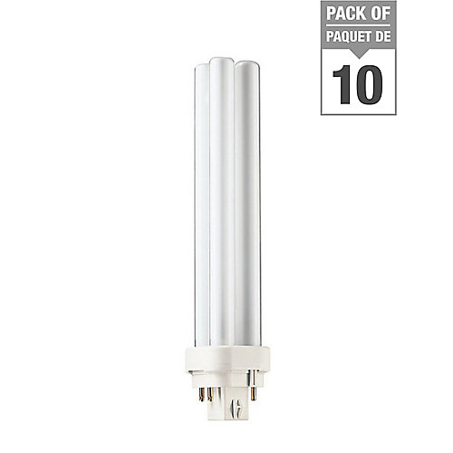 26W Neutral 4-pin PLC Compact Fluorescent Lamp (10-pack)