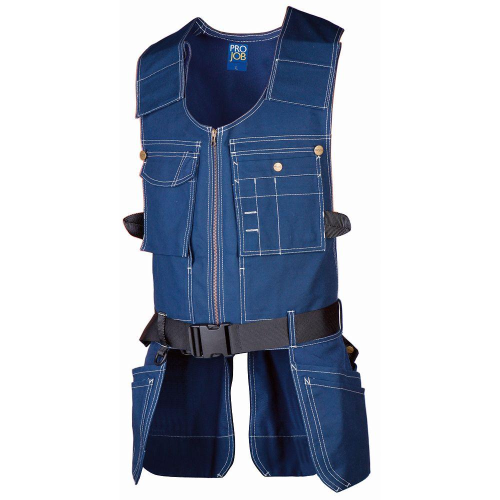 Projob Swedish Workwear Ergonomic Multi Purpose Work Vest - Blue - XL