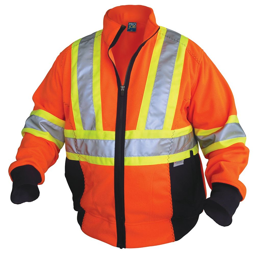 Projob Swedish Workwear CSA High Visibility Hoodie - Orange - XXXXL