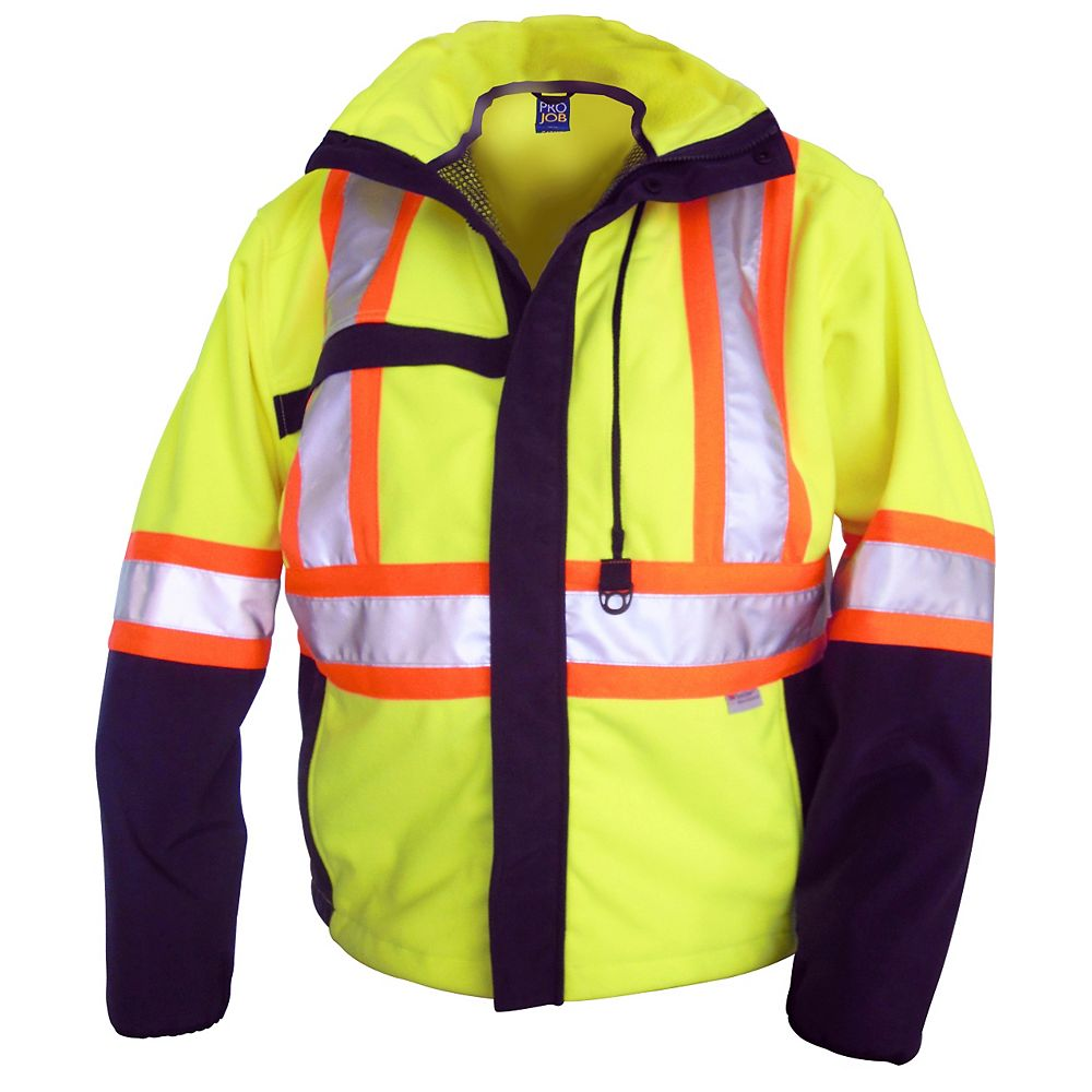 Projob Swedish Workwear CSA High Visibility Advanced Polar Fleece - Yellow - M