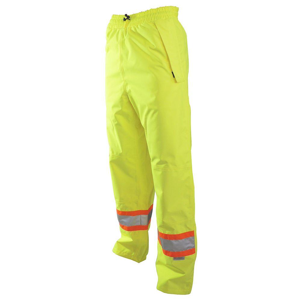 Projob Swedish Workwear CSA High Visibility Wind and Waterproof Rain Pants - Yellow -