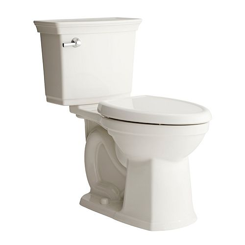 Optum Vormax 2-Piece 1.28 GPF Single-Flush Elongated Bowl Toilet in White