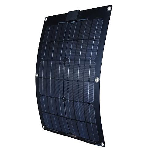 Panneau solaire semi-flexible de 25 W pour recharge de 12 V