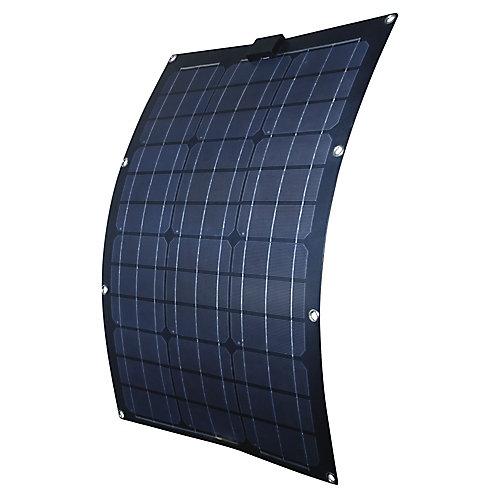 Panneau solaire semi-flexible de 50 W pour recharge de 12V