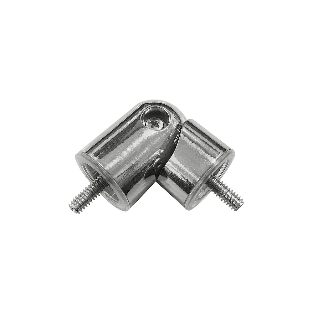 Home Decorators Collection 3/4-inch to 1-inch Curtain Rod Corner Connector in Brushed Nickel