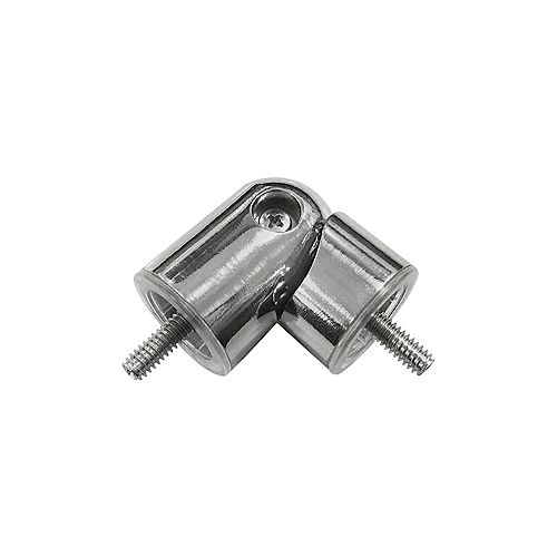 3/4-inch to 1-inch Curtain Rod Corner Connector in Brushed Nickel
