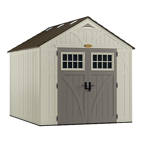 Tremont 8 ft. x 10 ft. Double-Wall Resin Shed