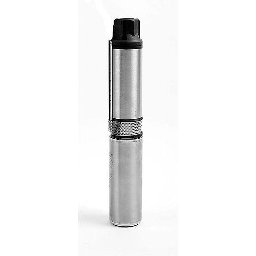Pompe submersible de 4 po pour puits, 1/2 HP, 3 W