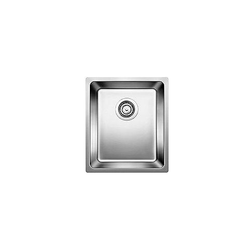 ANDANO U BAR, Undermount Single Bowl Bar/Preparation Sink, Stainless Steel