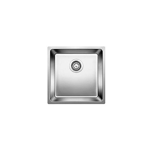 ANDANO U SMALL SINGLE, Undermount Kitchen Sink, Stainless Steel