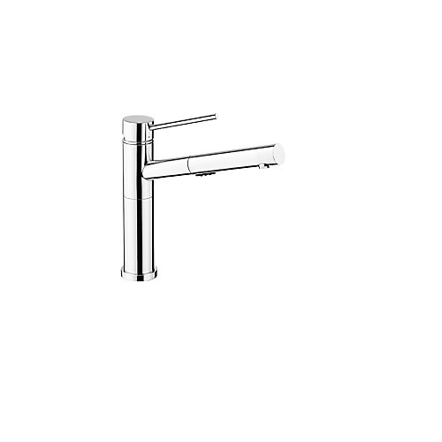 ALTA, Low-arc Pull-out Kitchen Faucet, 2.2 GPM flow rate (Dual-spray), Chrome