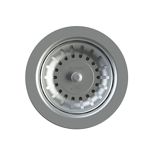 Standard 3.5 inch Sink Strainer with 5 inch Plastic Tailpipe, Stainless Steel