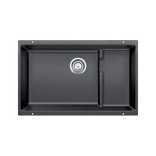 PRECIS CASCADE, Single Bowl Undermount Kitchen Sink, SILGRANIT Anthracite