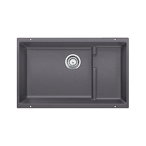 PRECIS CASCADE, Single Bowl Undermount Kitchen Sink, SILGRANIT Cinder