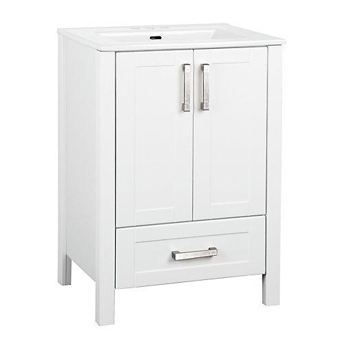 Delchester 23.6-inch W Vanity in White