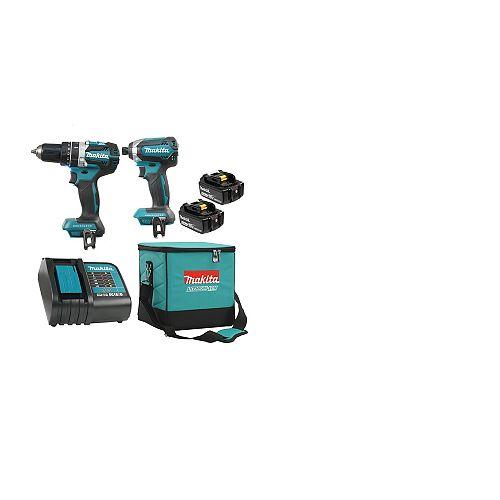 18V 5.0 Ah Li-Ion Brushless Cordless Hammer Drill and Impact Driver Combo Kit
